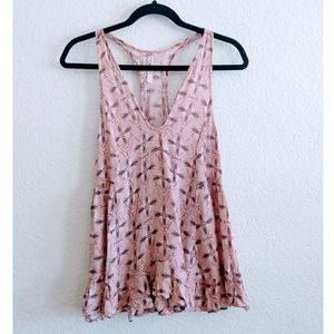 Free People Floral Tank Top Size XSmall
